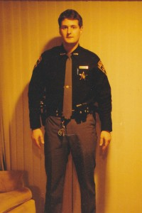 Brian Chopko, in 1995, after he began working as a reserve deputy sheriff in Ohio.