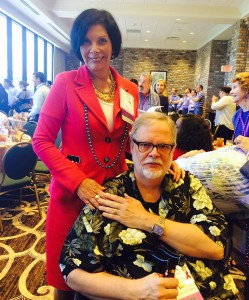 Mark Pope and Patricia Arredondo at the ALGBTIC conference.