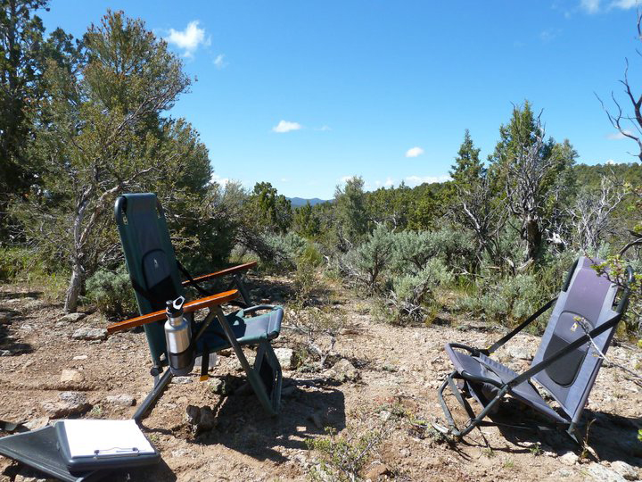 "Clinical mental health counselor Sean Roberts provided this photo of his previous ""office"" in the wilderness northwest of Enterprise, Utah."