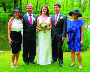 Thelma Duffey, with (left to right) her children's father, Mike Duffey; her daughter-in-law, Rachel Goodman; her son, Rob Duffey; and daughter, Madelyn Duffey.