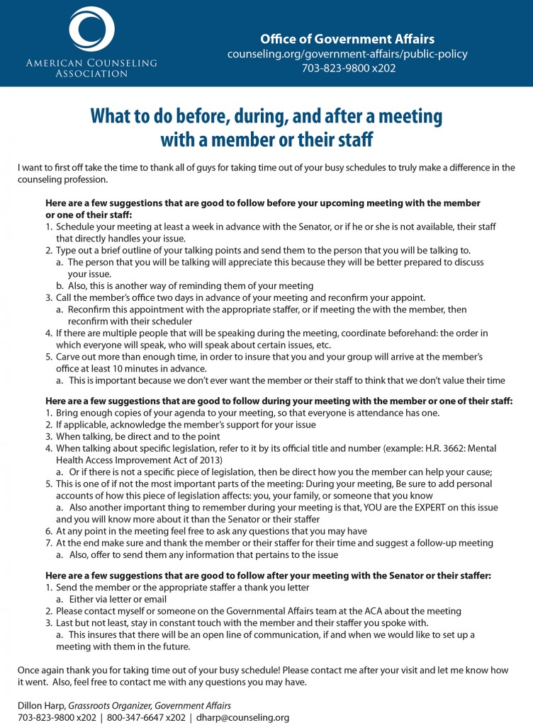 Advocacy tips from the ACA (CLICK TO SEE FULL SIZE)