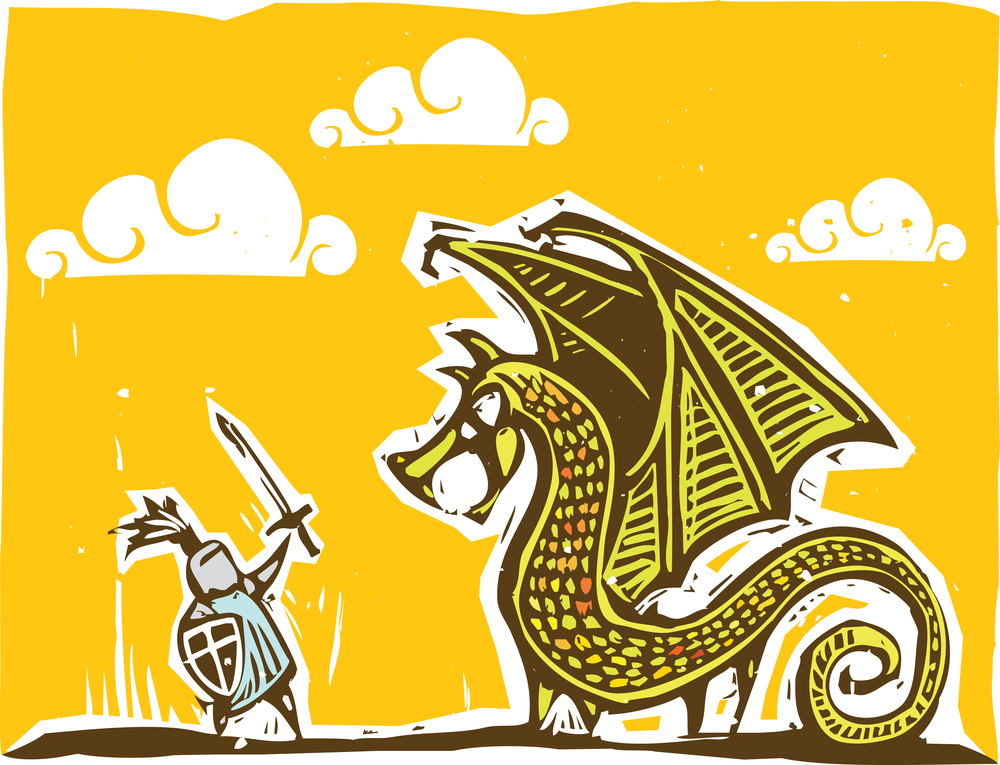 Knight and Dragon