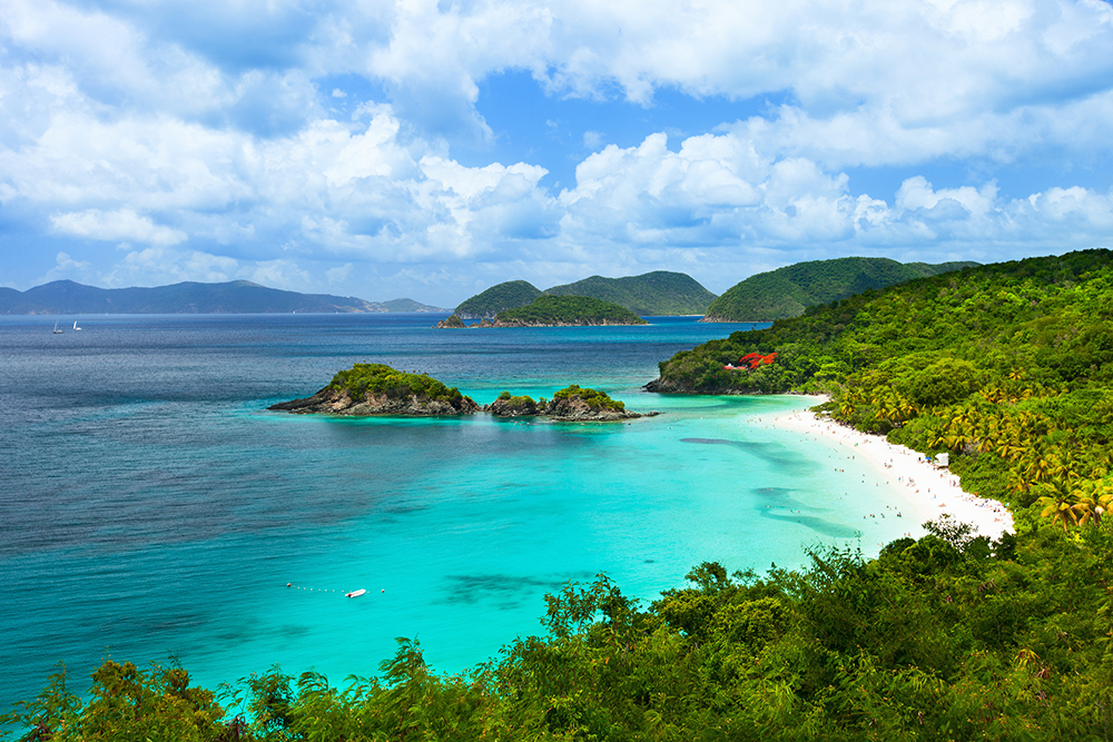Trunk Bay on St. John Island, USVI