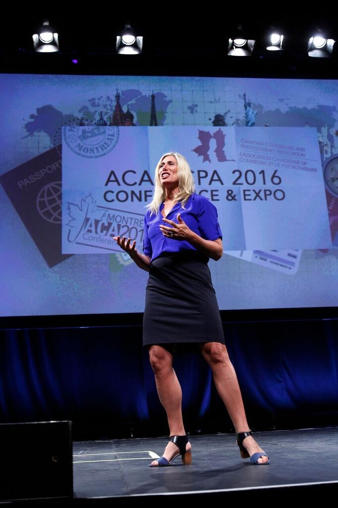 Silken Laumann speaks at ACA's 2016 Conference & Expo in Montréal. Photo by Paul Sakuma